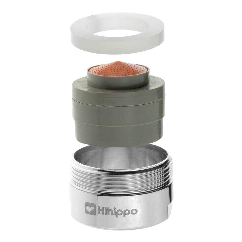 Aeratore per rubinetto regolabile Hihippo R 1.8 – 8.0 l/min - Filettatura M24x1 maschio - più popolare