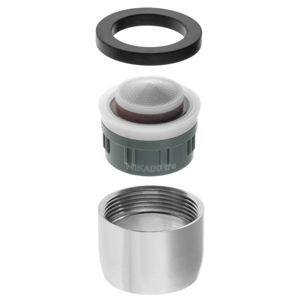 Aeratore per rubinetto Neoperl Mikado Tre 1.2 l/min - Filettatura F22x1 femmina