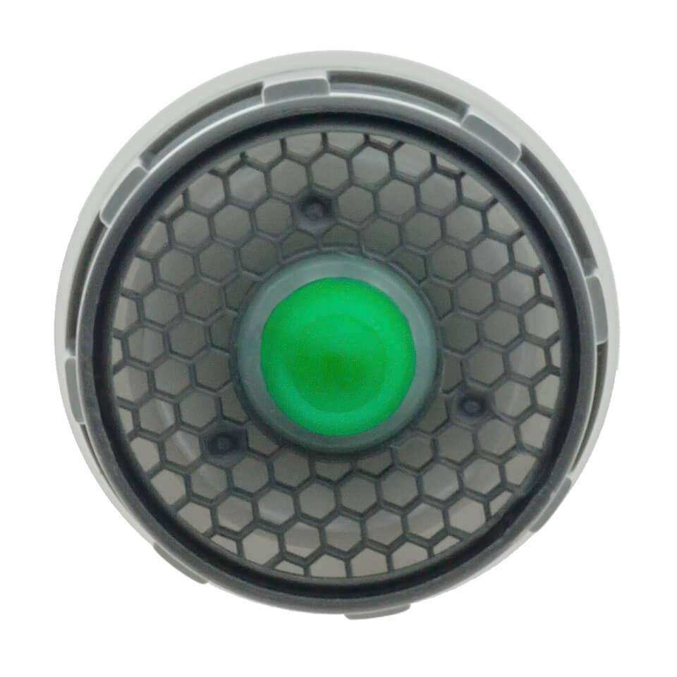 L'inserto per l'aeratore Neoperl Push con un pulsante da 5 o 11 l/min -