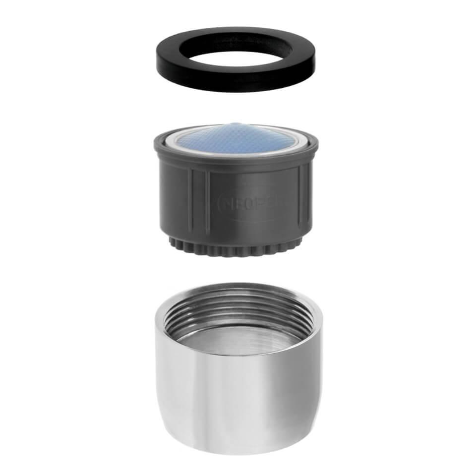 Aeratore per rubinetto Neoperl ITR Rain 3.8 l/min - Filettatura F22x1 femmina