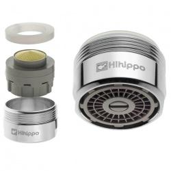 Aeratore per rubinetto regolabile Hihippo SR 3.0 - 8.0 l/min